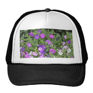 Purple Flowers Spring Garden Theme Petunia Floral Cap
