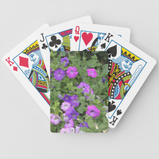 Purple Flowers Spring Garden Theme Petunia Floral Poker Deck