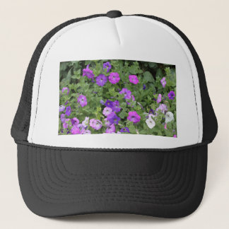 Purple Flowers Spring Garden Theme Petunia Floral Trucker Hat
