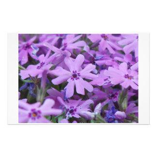 Purple Flowers Stationary Customized Stationery