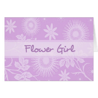 Purple Flowers Thank You Flower Girl Card