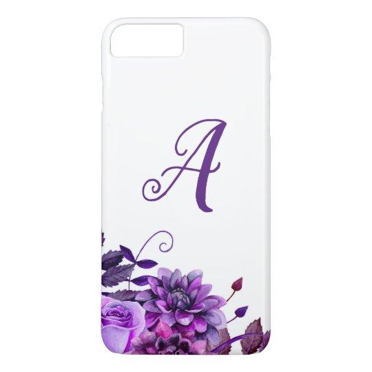 Purple flowers. Watercolor floral case. Botanical iPhone 8 Plus/7 Plus Case