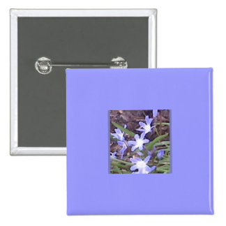 Purple flowers welcome Spring Button