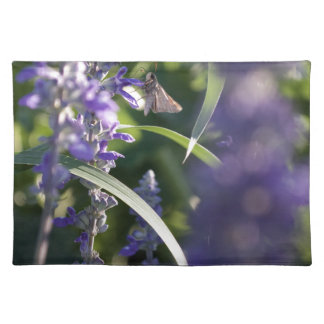Purple Flowers with Moth Place Mats