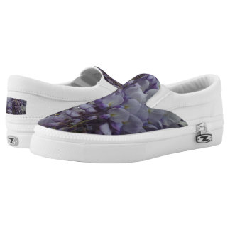 Purple FlwrCustom Zipz Slip On Shoes,  Men & Women Printed Shoes