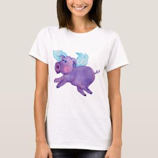 Purple Flying Pig T-Shirt