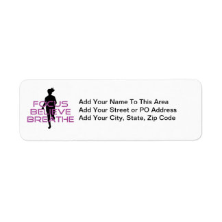 Purple Focus Believe Breathe Return Address Label