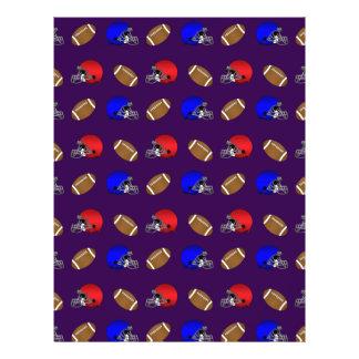 purple footballs helmets pattern 21.5 cm x 28 cm flyer