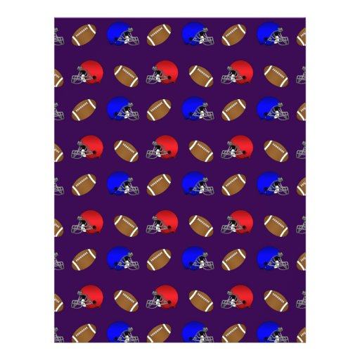 purple footballs helmets pattern custom flyer