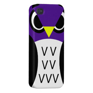Purple Fowl Owl Cover For iPhone 4