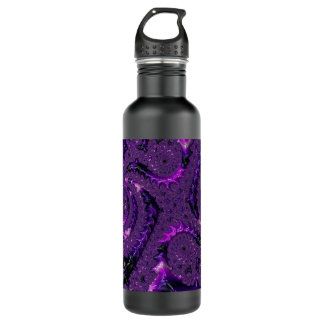 Purple Fractal 710 Ml Water Bottle