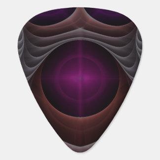 Purple Fractal Art Plectrum