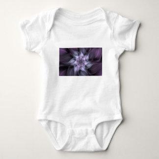 Purple Fractal Baby Bodysuit