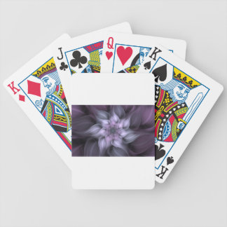 Purple Fractal Bicycle Playing Cards