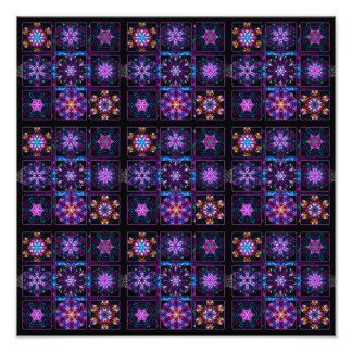 Purple Fractal Collage Photographic Print