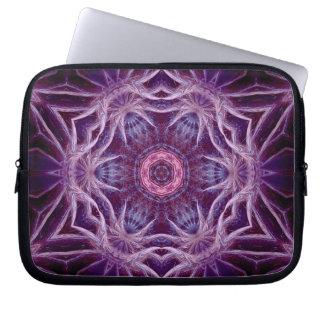 Purple Fractal Hexagon Star  Art Notebook Laptop Sleeve