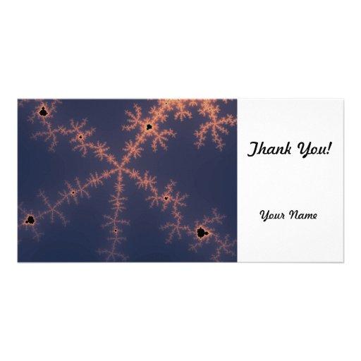 Purple Fractal Photo Greeting Card
