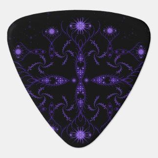 Purple Fractal Plectrum
