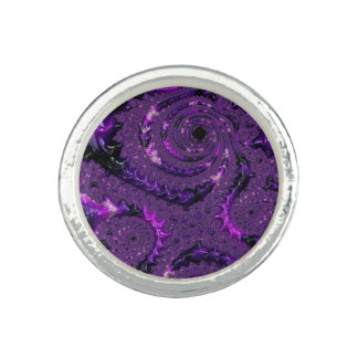 Purple Fractal Ring