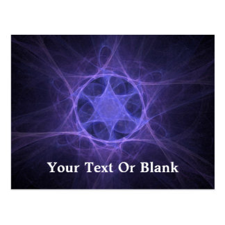 Purple Fractal Star Of David Postcard