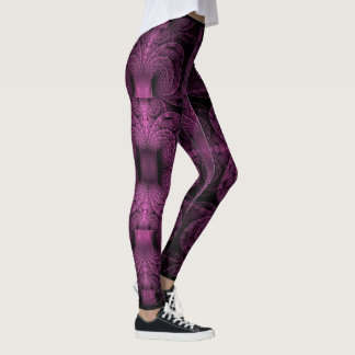 Purple Fractals Leggings