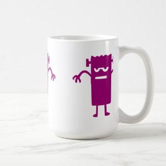 Purple Frankenstein Halloween Clip Art Coffee Mug