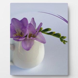 purple freesia buds plaque