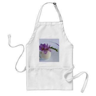 purple freesia buds standard apron