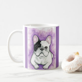 Purple French Bulldog mug