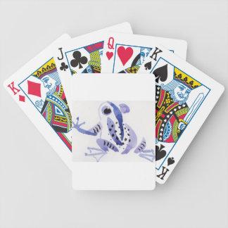 Purple Frog Poker Deck