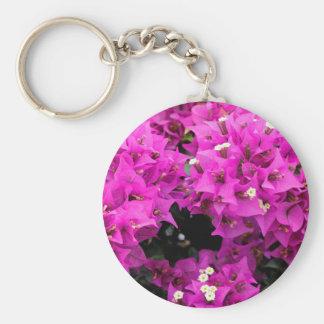 Purple Fuchsia Bougainvillea Background Key Ring