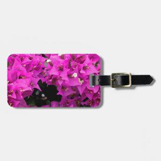 Purple Fuchsia Bougainvillea Background Luggage Tag
