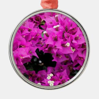 Purple Fuchsia Bougainvillea Background Metal Ornament