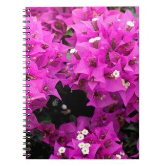 Purple Fuchsia Bougainvillea Background Notebook