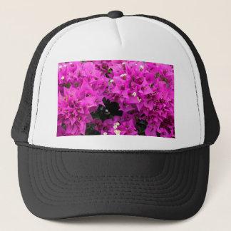 Purple Fuchsia Bougainvillea Background Trucker Hat