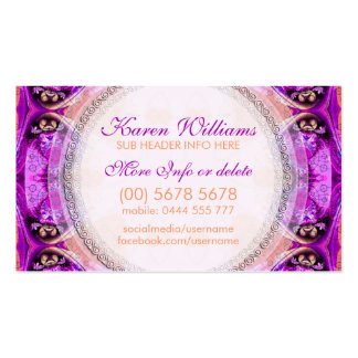 Purple Fuchsia Healing New Age Business Card