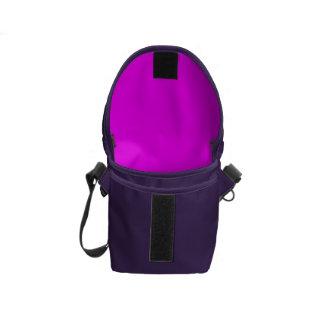 purple fuchsia Mini Messenger Bag Inside Print