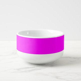 purple  fuchsia Soup Mug