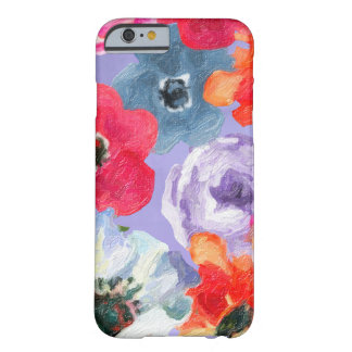 Purple Fun Modern Floral Watercolor Flowers Barely There iPhone 6 Case