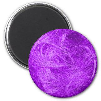 Purple Fur 6 Cm Round Magnet
