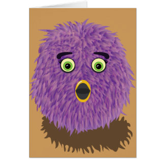 Purple Furry Monster Card