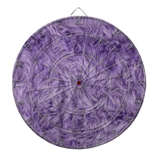 PURPLE FUZZY FUR DARTBOARD