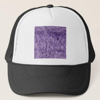 PURPLE FUZZY FUR TRUCKER HAT