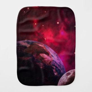 Purple galaxy 2 - purple galaxy burp cloth