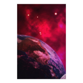 Purple galaxy 2 - purple galaxy stationery