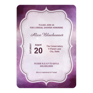 Purple Galaxy Bridal Shower Invitation