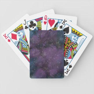 Purple Galaxy Nebula Bicycle Playing Cards
