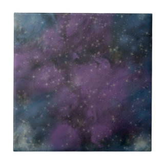 Purple Galaxy Nebula Ceramic Tile
