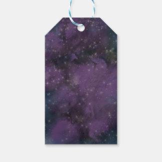 Purple Galaxy Nebula Gift Tags