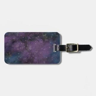 Purple Galaxy Nebula Luggage Tag